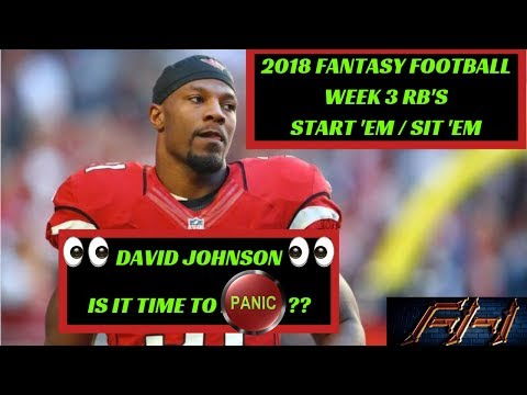 2018 Fantasy Football Lineup Advice  - Week 3 RB\'s Start/Sit Episode