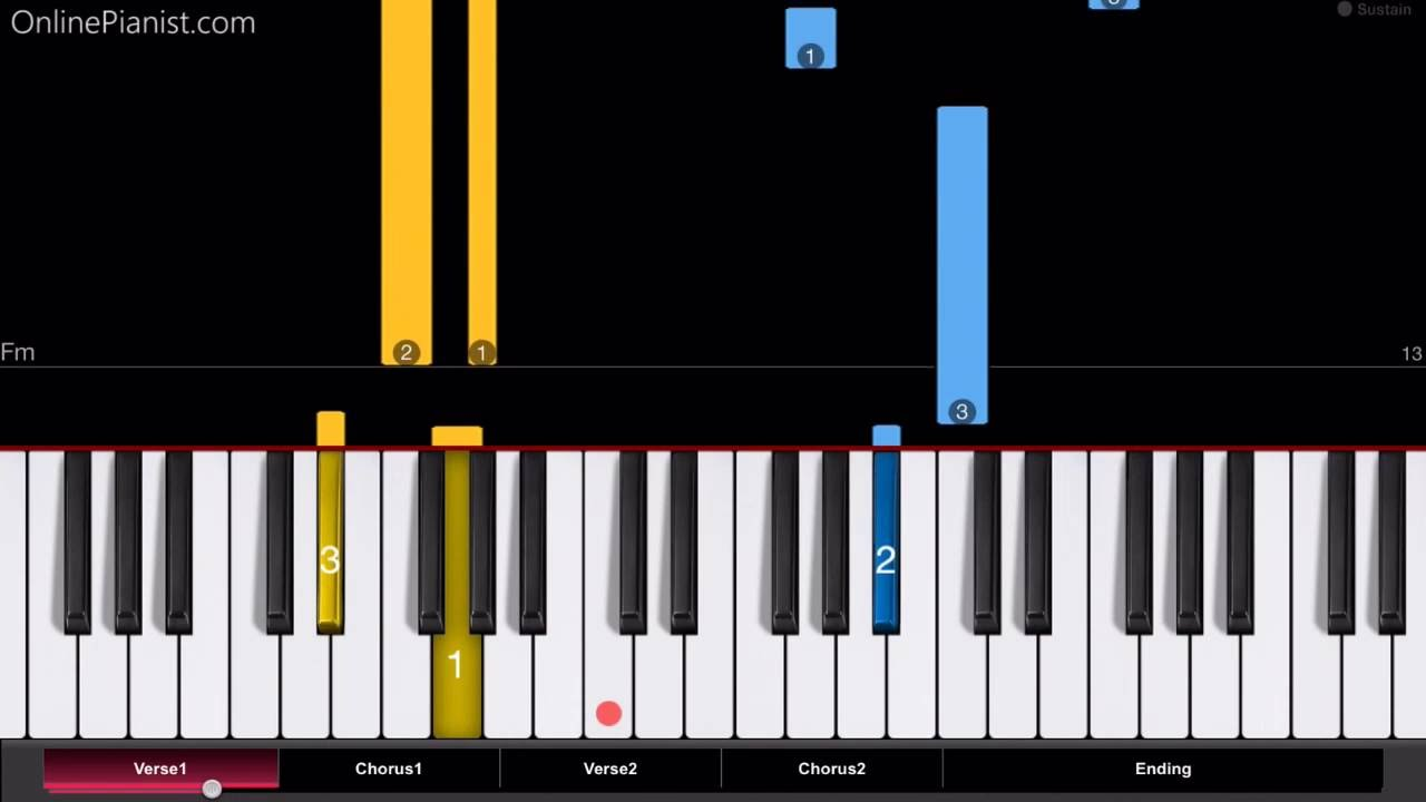 how to play hallelujah on piano easy