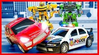 Мультик Трансформеры Автоботы спасатели. Возвращение Бамблби. Полицейская машина мультик для детей