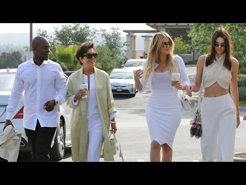 The Kardashian Klan Arrive At Church In All White For Easter Sunday