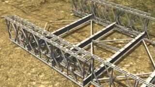I-5 Skagit River Bridge - Temporary Bridge Animation