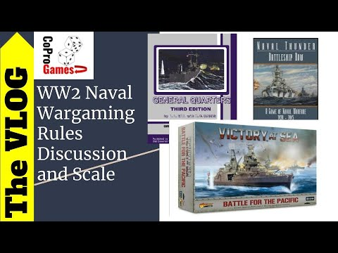 Comparing some WW2 Naval rule sets