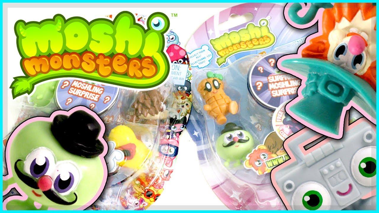 Moshi Monsters 5 Moshling Blister Packs YouTube