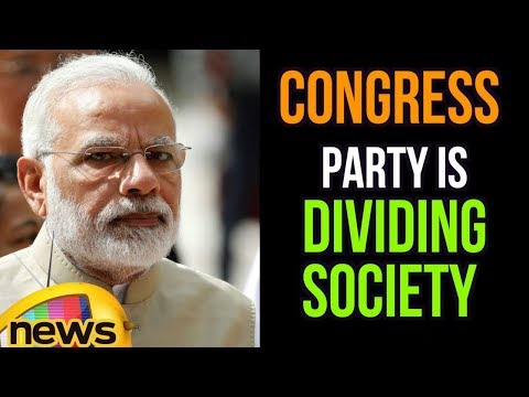 Congress in Karnataka is focussing on Misleading People and Dividing Society, Says Modi | Mango News
