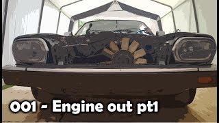 Jaguar XJS - Restoration - Engine Out pt1
