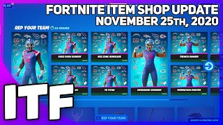 Fortnite Item Shop *NEW* NFL SET + BUYING EVERYTHING! [November 25th, 2020] (Fortnite Battle Royale)