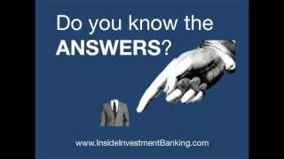 Investment Banking Interview Questions - Top 50 Revealed