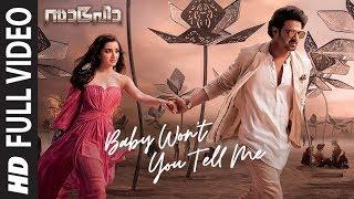 Saaho : Baby Won't You Tell Me Full Video | Prabhas, Shraddha K | Shweta M, Shankar M
