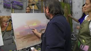 Игорь Сахаров, работа с фотоматериалом, живопись маслом для начинающих