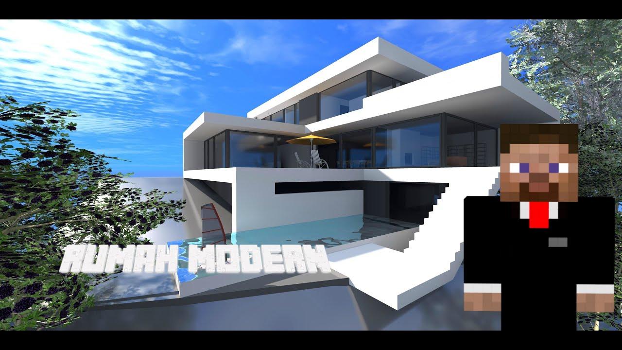 Minecraft -Rumah Modern 1 - YouTube