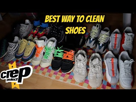 HOW TO CLEAN EVERY SHOE WITH CREP CURE!!(OFF WHITE NIKE,YEEZYS....)