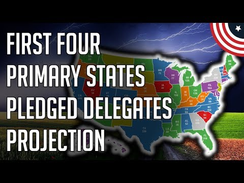 First 4 Primary States Pledged Delegates Projection - Democratic Primary Polls - December 2019