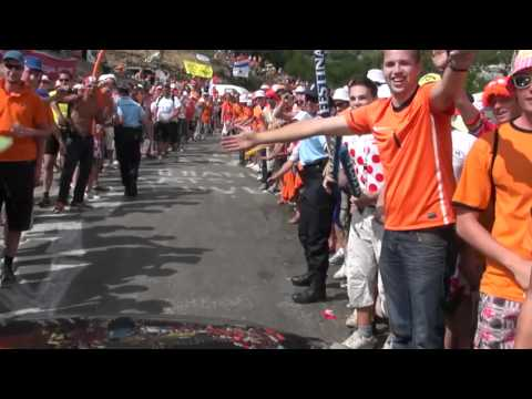 Alpe D'Huez Tour de France Dutch Fans