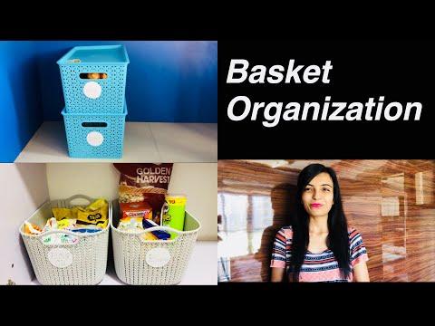 10 Home & Kitchen Organization Ideas / Basket organization
