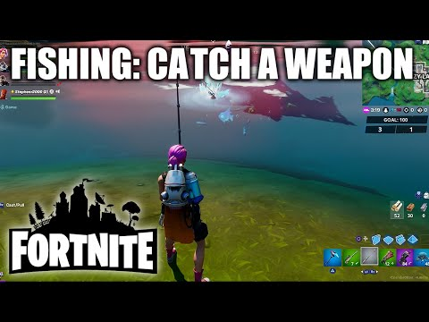 """Fortnite """"Catch a Weapon Using a Fishing Rod"""" - Fishing Rod Location & How To Catch"""