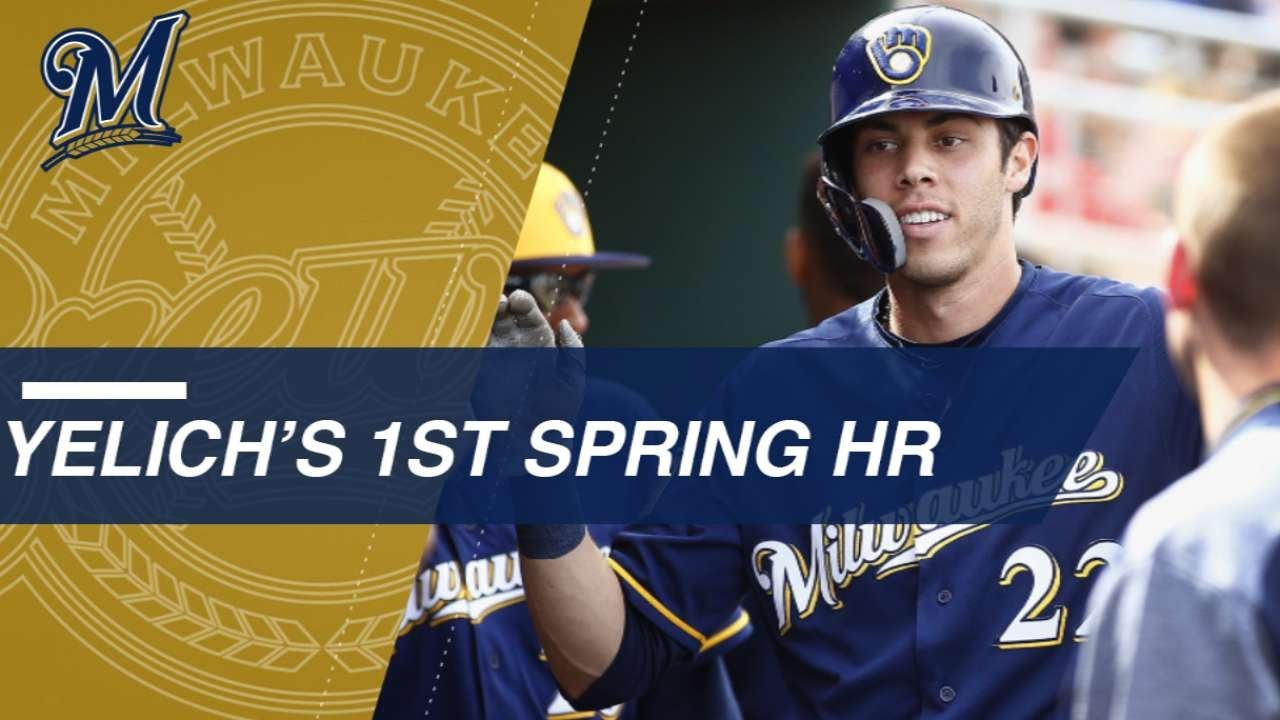 Christian Yelich Belts First Spring Training Homer with the Brewers
