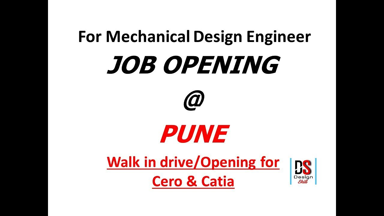 Job Opening Pune L For Mechanical Design Engineer L Hindi Youtube