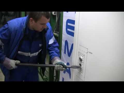 Отжим Неман   Дверь Н-102 с защитой от килечного ножа. Заводские испытания НЕМАН (Прошли испытания двери Н-102 с опцией ЗоКН (защита от килечного ножа).Ис