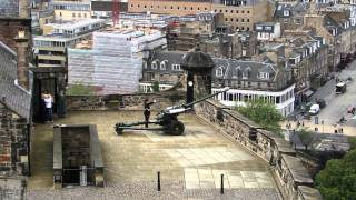 Great HD view of artillery from Edinburgh castle, one o