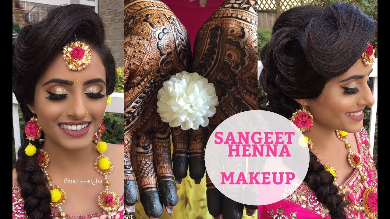 SANGEET MAKEUP | INDIAN BRIDE | keepingupwithmona