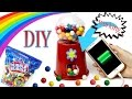 DIY Bubblegum Machine Phone Charger! How To Make A {Working} Candy Machine-Cool DIY Crafts-Tutorials