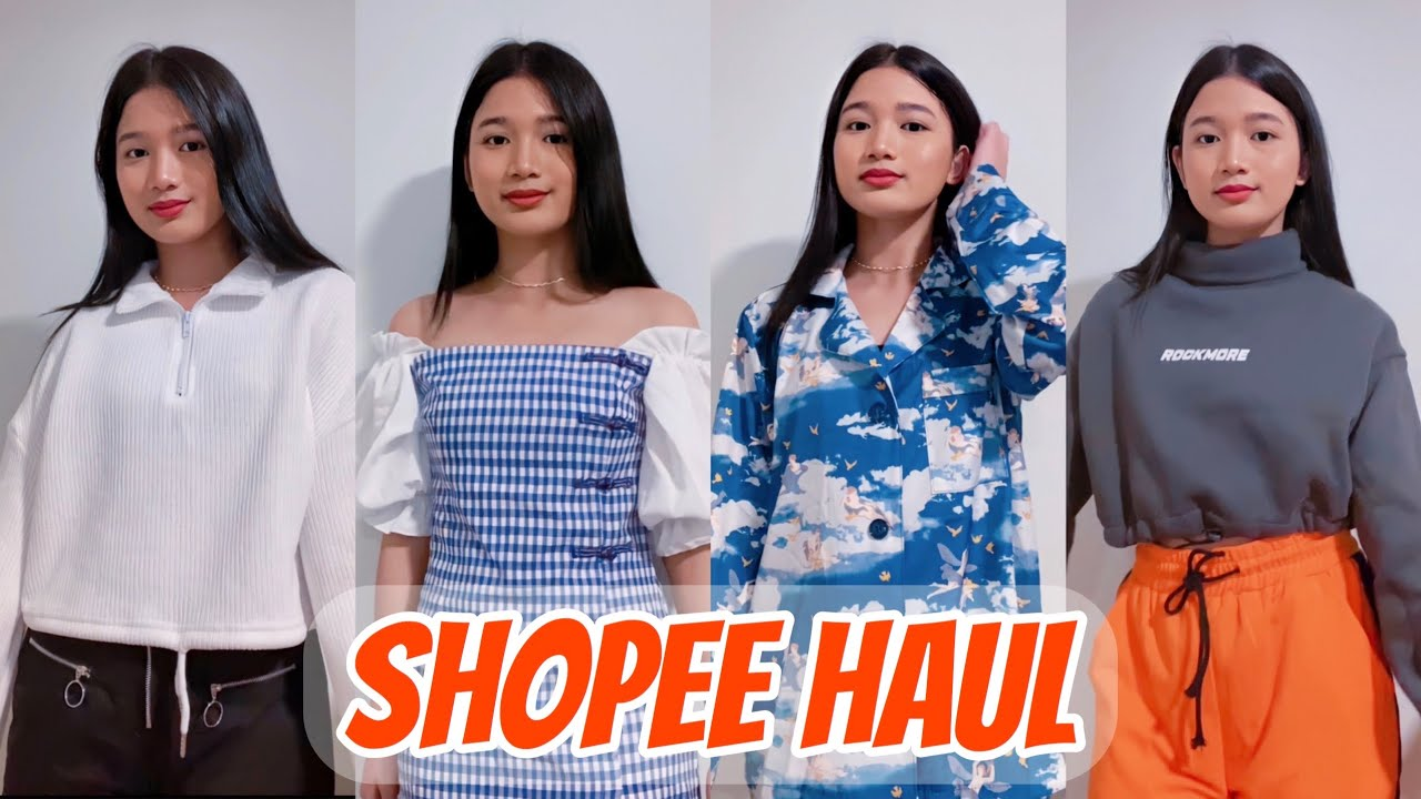 SHOPEE TRY-ON HAUL (trendy clothes) | Philippines | Tyra C.