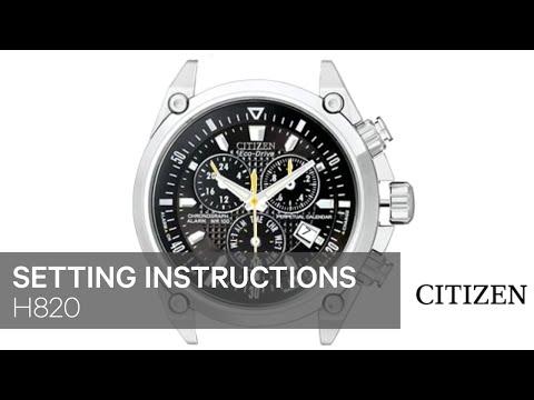 CITIZEN E820 Setting Instruction