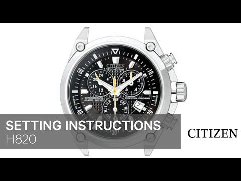 Citizen eco-drive c650/c651/c652 setting instructions | watch.