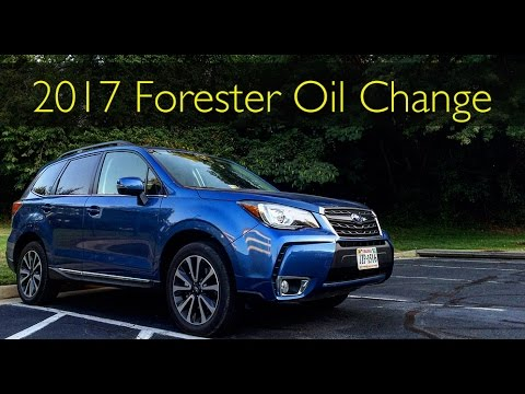 Easiest Oil Change Ever 2017 Subaru Forester Xt