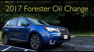 EASIEST oil change ever!! 2017 Subaru Forester XT!