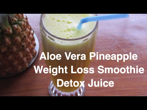 how-to-lose-weight-fast---aloe-vera---pineapple-smoothie-for-weight-loss---no-diet---no-exercise
