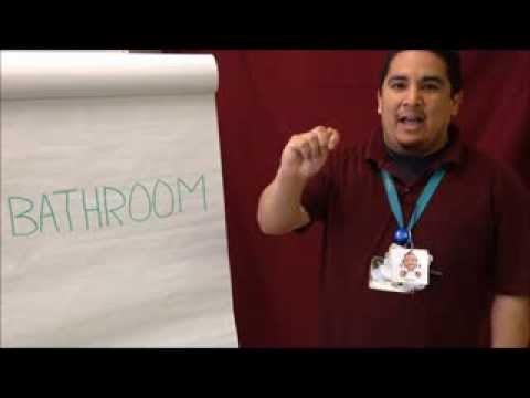 bathroom  sign language,