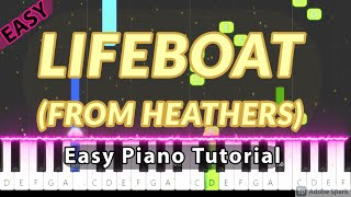 Lifeboat (From Heathers) - Easy Piano Tutorial