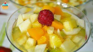 фруктовый салат из консервированных фруктов