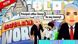 Principal Charles Tried To Give Me Detention Today! 🏫 ROBLOXIA WORLD (Roblox roleplay)