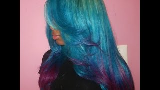 HOW TO: Coloful Ombre Hair (EASY) Thumbnail