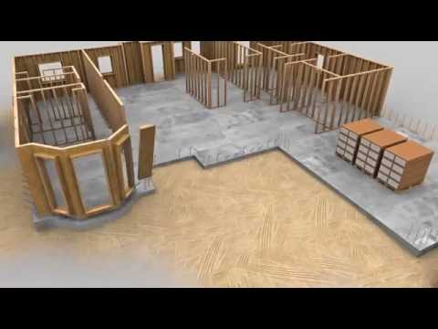 Spider Tie Concrete Wall Forming System   3D Animation1