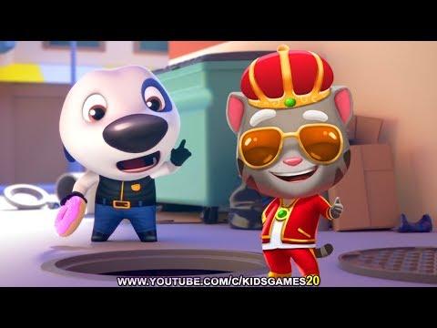 Talking Tom Gold Run Android Gameplay - King Tom vs Hawaii Hank (Gameplay)