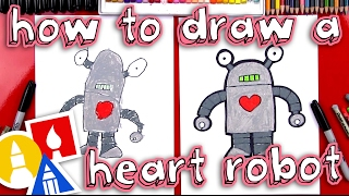 How To Draw A Valentine's Robot