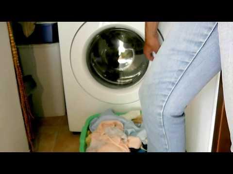 Speed centrifuge washing machine lit by strobe light