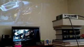 led projector luxcine z3000 vs plasma tv panasonic. day. светодиодный проектор(dlp led projector versus plasma tv panasonic 42 inch. лед светодиодный проектор luxcine z3000 против плазмы телевизора 42 дюйма днем., 2016-06-06T10:47:43.000Z)