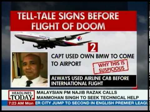 Malaysian Airlines pilot showed markedly changed behaviour
