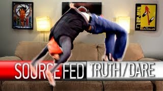 Joe Does Backflips on Truth or Dare!