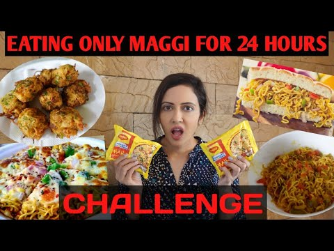 I Only Ate MAGGI For 24 Hours Challenge | Trying Weird Maggi Recipes 🥴
