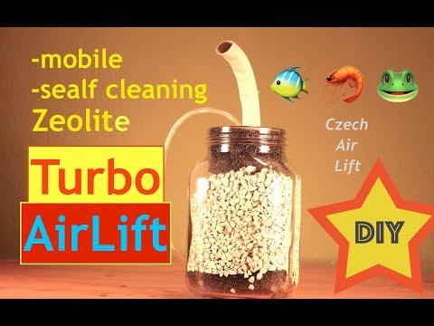 Zeolith Luftheber 🐠 🦐 🐸 | DIY | mobile, self-cleaning Zeolite filter | TLH Aquarium