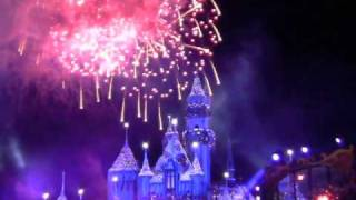 2011 Disneyland New Year's Eve Fireworks Dec. 31, 2010 - Upclose & Center View