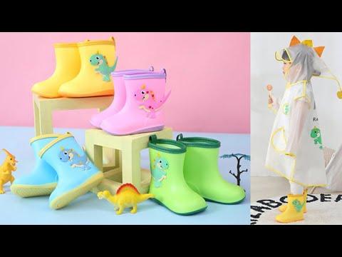 유아 아기 공룡 우비 레인부츠 아동 비옷 장화