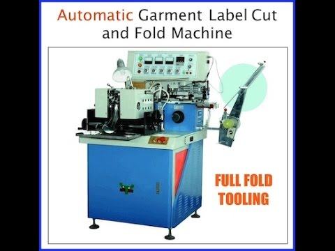 Automatic Garment Label cut and fold machine Operation Guide