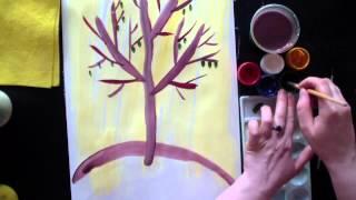 Рисуем дерево   Урок рисования для детей и малышей