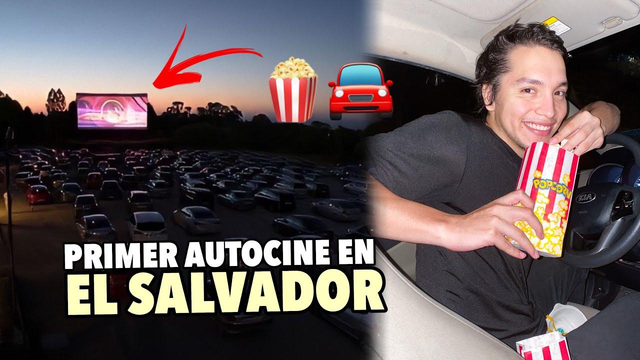 Así es el primer AUTOCINE en EL SALVADOR 🇸🇻🚘🍿